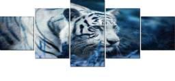 Quadro em Mosaico Tigre Branco