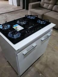 Fogão com balcão cooktop