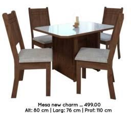 Conjunto de mesa com 4 cadeiras new charm _ ENTREGA EM ATE 24 HORAS ' Mega Promoção