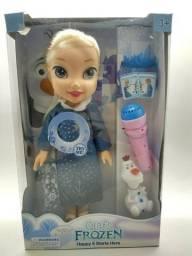 Bonecas Frozen musical tamanho 36 cm altura