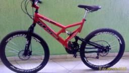 Bicicleta full-suspension!! semi-nova