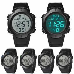 Relógio Honhx Original Digital Esportivo Led Resistente Água Pulseira de Borracha