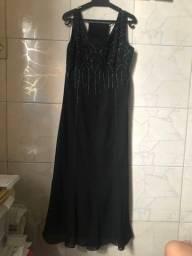 Vestido de festa preto tamanho 46