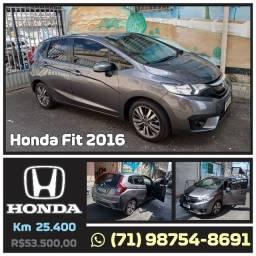 Honda Fit Cinza Perfeito, Segundo dono Pouco Rodado