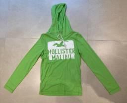 Casaco Verde Claro Hollister - Tamanho P