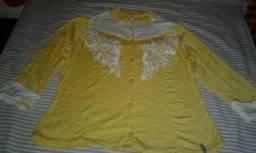 Camisa de manga amarela