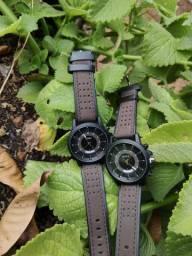 Relógio Analógico (Couro Sintético)