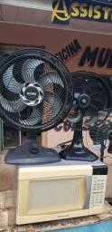 2 ventilador  mais micro-ondas  com garantia