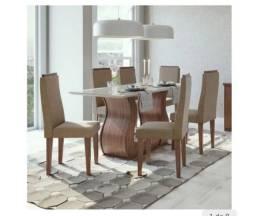 Ubá R$ 1.799 Sala de jantar Dafne com 6 cadeiras Lopas