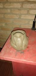 Lobo arte fazendo arte vasos de cimento