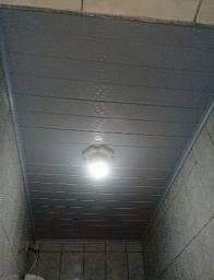 Forro pvc instalado 45reais o metro