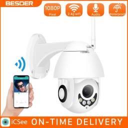 Câmera 1080p com Monitoramento pelo Smartphone, Infra Vermelho, Microfone e Muito Mais