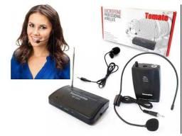 Microfone Lapela e auricular Headset Profissional Sem Fio
