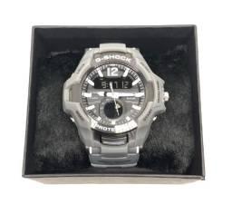 Relógio Casio G-shock GravityMaster Pulseira e Caixa Cinza Com Garantia Produto Novo