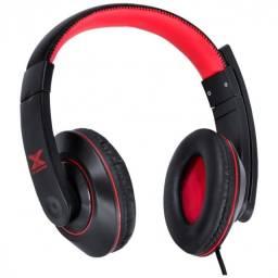 headset gamer v blade ii usb com mic retratil preto com vermelho - gh200
