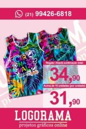 Abadá / Camiseta Regata Personalizada em Sublimação Total