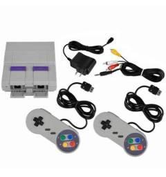 Super Nintendo Retrô 2 Controles 400 Jogos - Novo