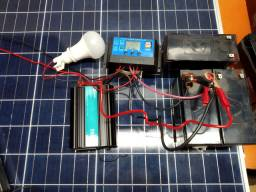 Kit Energia Solar com Painel 55w Off Grid