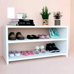Sapateira pequena organizadora de sapatos, sandálias em MDF