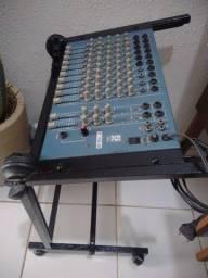 Mesa de Som Staner T10-2 com suporte.