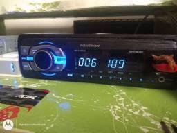 Rádio pósitron com Bluetooth