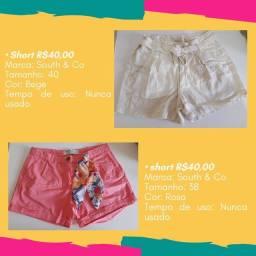 Shorts em liquidação