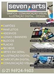 Material gráfico e comunicação visual
