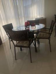 Conjunto De Mesa E Cadeiras para ambientes internos