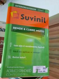 Oferta tinta branco neve ou gelo 18L rende 500m² na Cuiabá tintas.. imperdível!!!