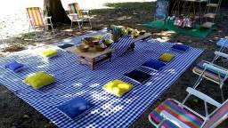 Estrutura e decoração para picnic