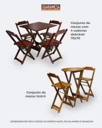 Mesa de Madeira - Conjunto -