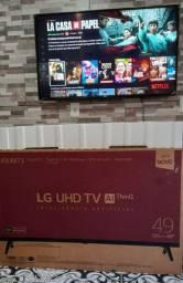 Tv smart 49P,4k na caixa nota fiscal, na garantia,aceito cartão e faço entrega