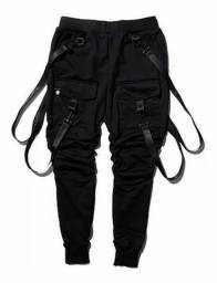calça jogger masculino com suspensório