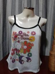 Título do anúncio: Duas Blusas Alcinha de Pijama NOVA - Tam. G