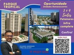 Título do anúncio: Parque Tropical , 2 vagas , 3 suítes , Patamares , 113m² , Varanda Gourmet