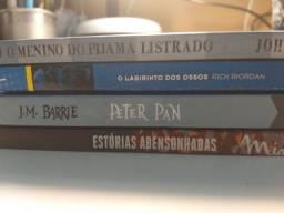 Peter Pan,labirinto dos ossos, o menino do pijama listrado e estórias abensonhadas