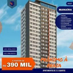 Apartamento para Venda em João Pessoa, Manaíra, 2 dormitórios, 1 suíte, 2 banheiros, 1 vag