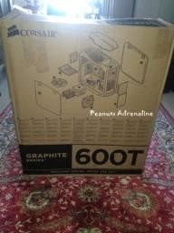 Gabinete Corsair White Graphite Series 600t Special Edition completo na caixa