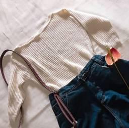 Blusa Tricô com manga longa