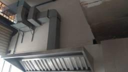 Coifas com filtros para cozinha industrial, dutos e conexões