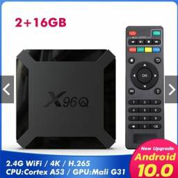 X96Q H313 4k Android 10.0 Caixa De Tv Quad Core 2gb + 16gb Wifi Hd Media Player