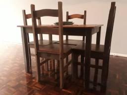 Conjunto Mesa Madeira 4 Cadeiras
