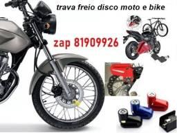 trava freio a disco moto bicicleta
