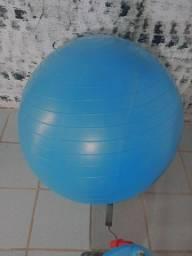 Bola azul grande pra yoga