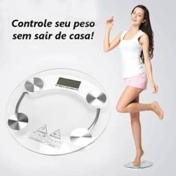 Balança Digital Banheiro Academia Vidro Temperado Até 180 kg Wpp: *