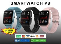 Smartwatch Colmi P8 - Rosé - Azul - Preto - Cinza - Dourado