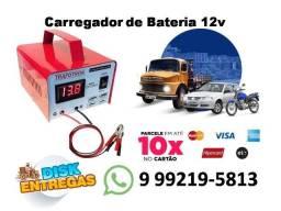 Carregador de Bateria Automotivo Portátil (Pequeno) 12v Com Voltímetro