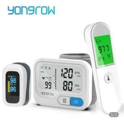 KIT medico completo. oximetro, medidor de pressão e termômetro.