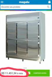 Freezer industrial inox semi novo