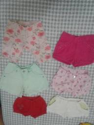 Lote de roupas de bebê